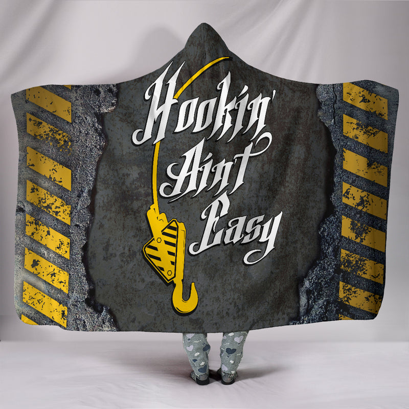 Hookin' Ain't Easy Crane Op. Hooded Blanket