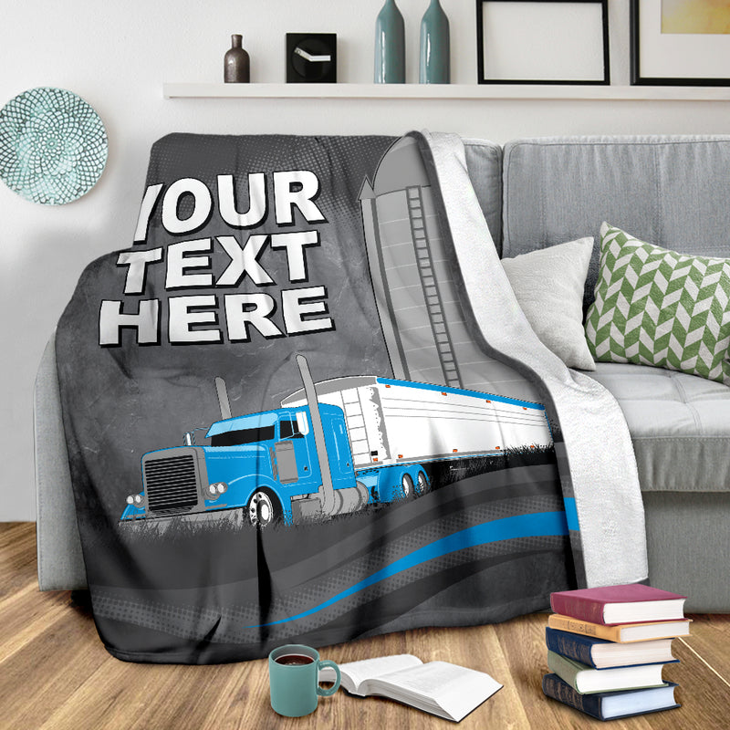 Pete Grain Hauler Micro Fleece Blanket Your Text Here Free Shipping