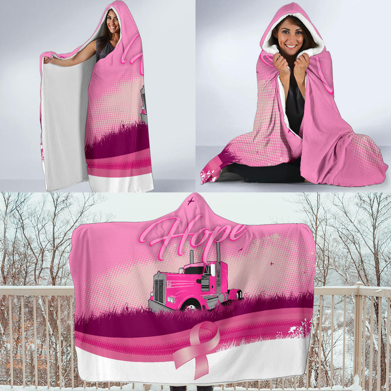Breast Cancer Hope KW Hooded Blanket