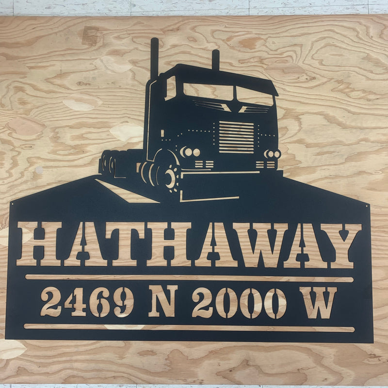 Cabover Pete Your Text Here Metal Wall Art Free Shipping