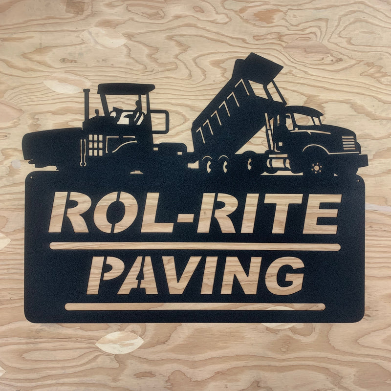 Asphalt Paver Dump Truck Your Text Here Metal Wall Art Free Shipping