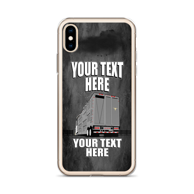 Bull Hauler Pete Trailer Your Text Here iPhone Case Free Shipping