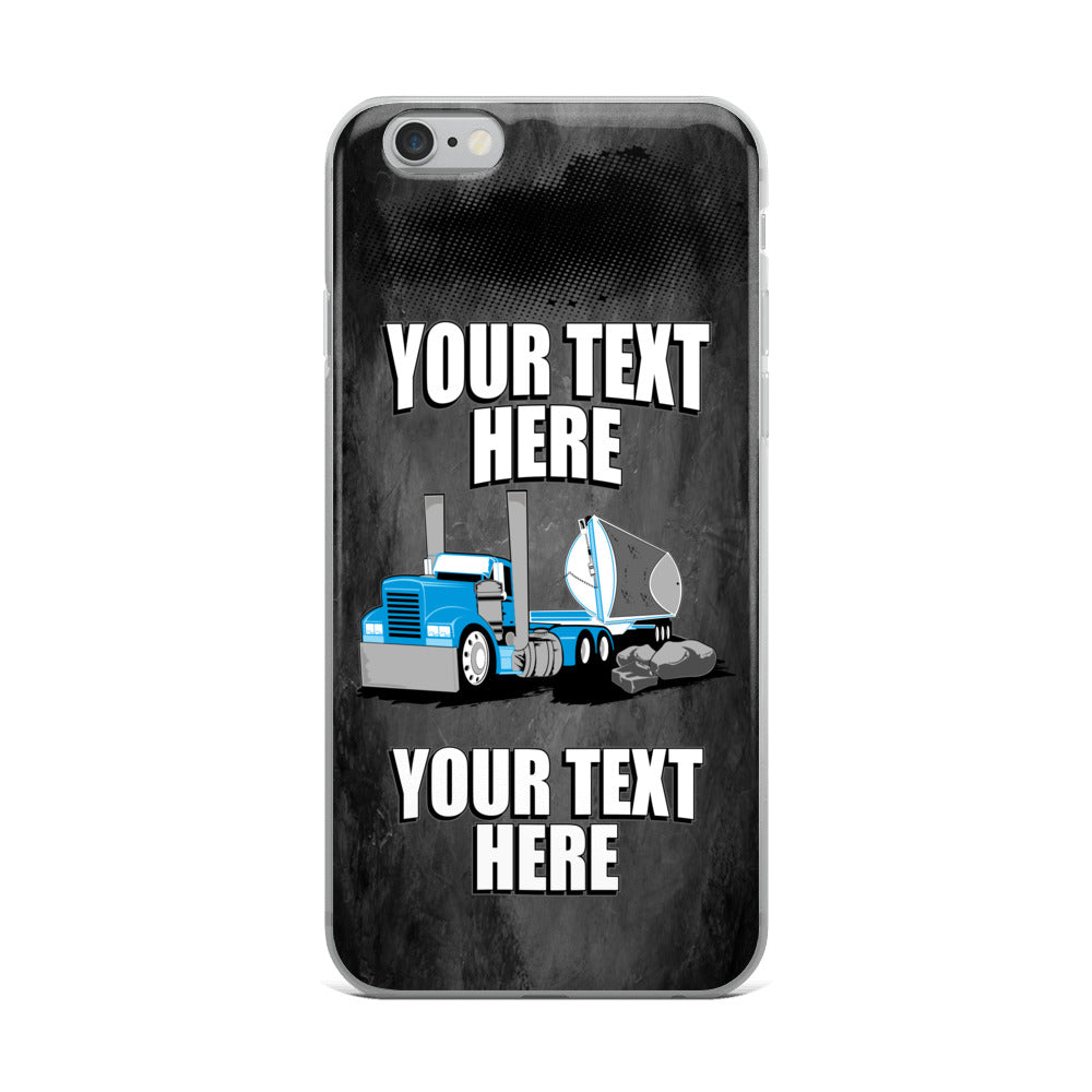 Side Dump Your Text Here iPhone Case Free Shipping