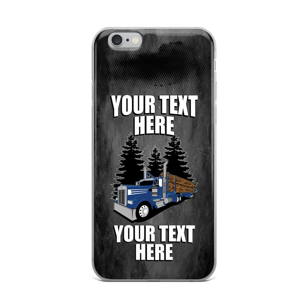 Log Hauler KW Your Text Here iPhone Case Free Shipping