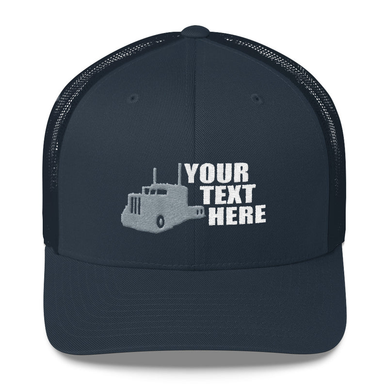 Pete Side View Your Text Here Snapback Hat Free Shipping