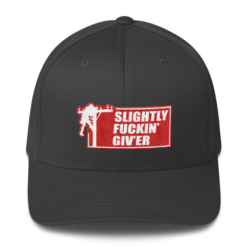 Lineman Slightly Fuckin' Giv'er Flexfit Hat Free Shipping