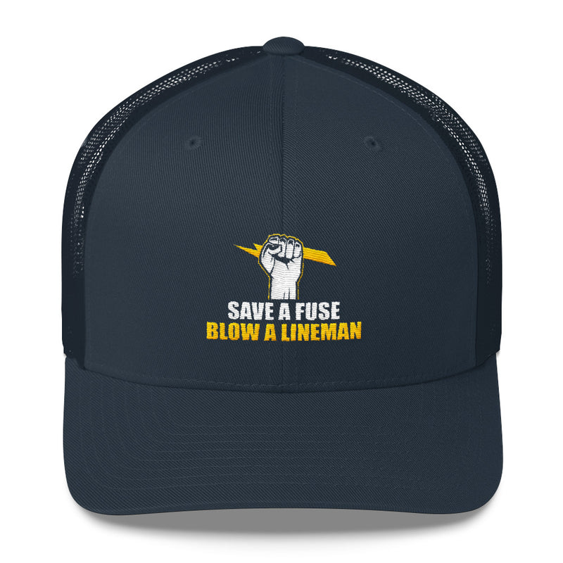 Save a Fuse Blow a Lineman Snapback Hat Free Shipping