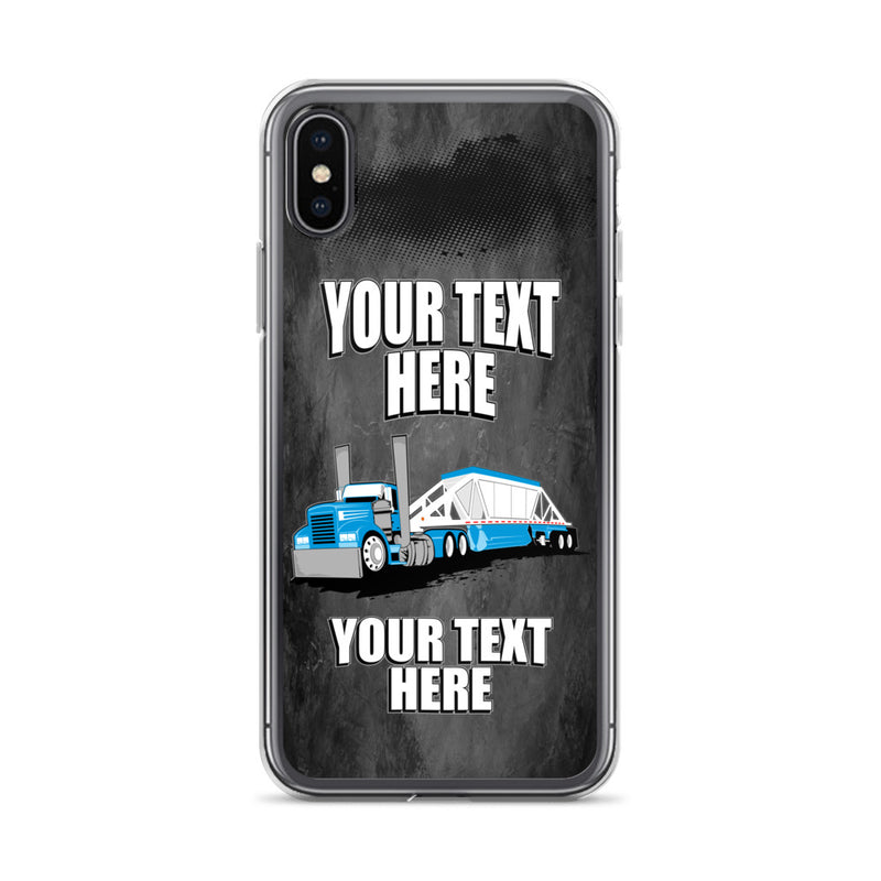 Belly Dump Truck Your Text Here iPhone Case Free Shipping
