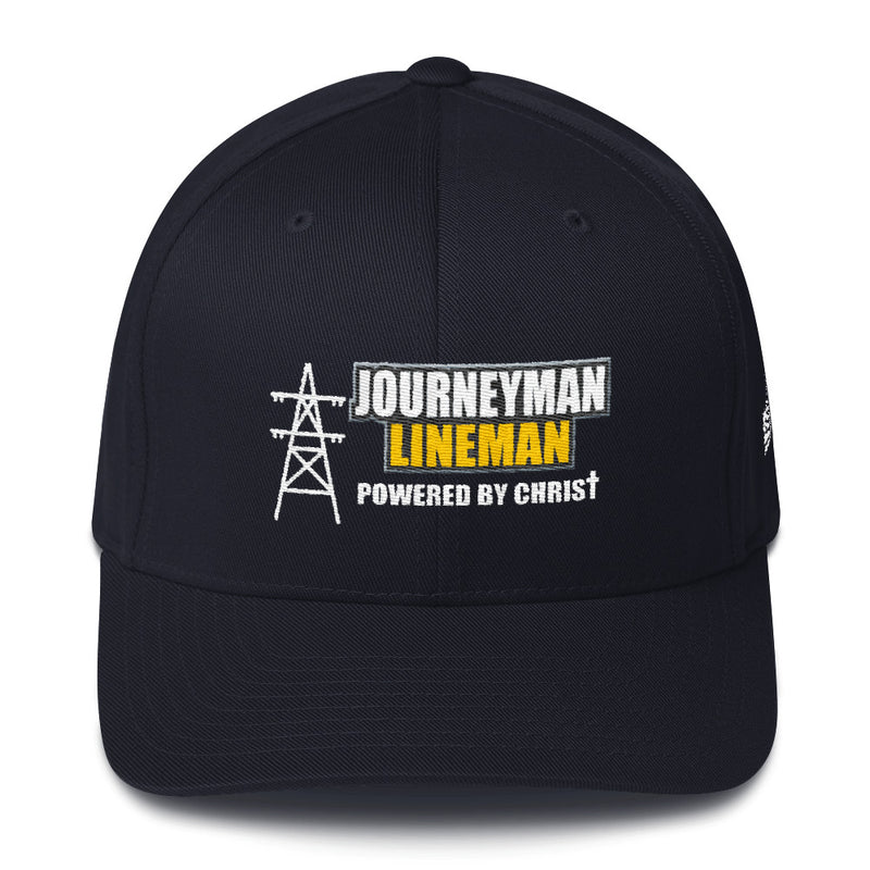 Journeyman Lineman Powered by Christ Flexfit Hat Free Shipping