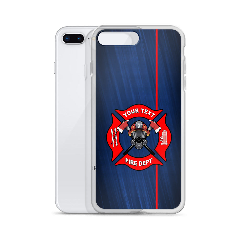 Fire Department Your Text Here iPhone Case Free Shipping