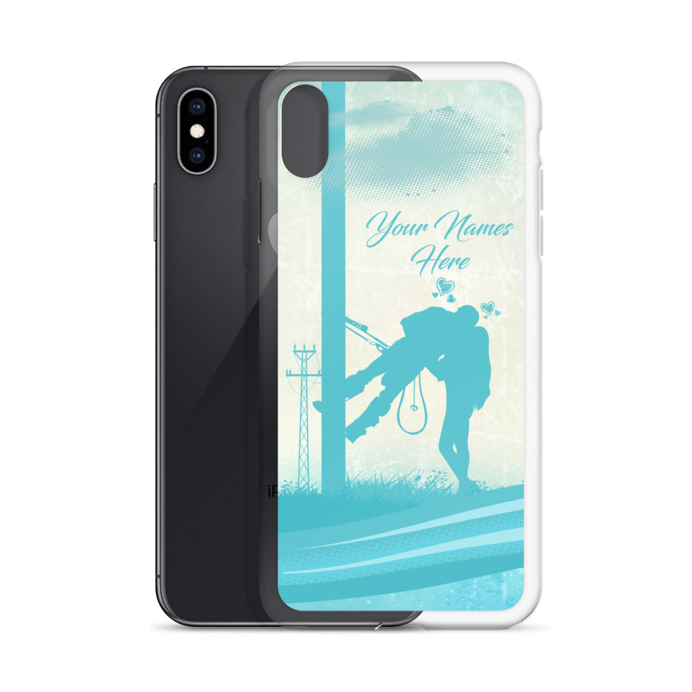 Lineman Kiss Your Names Here iPhone Case Free Shipping