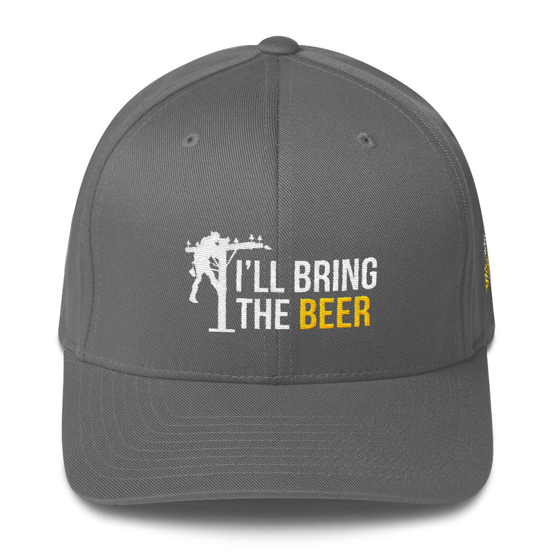 Lineman I'll Bring The Beer and The Bail Money Flexfit Hat Free Shipping