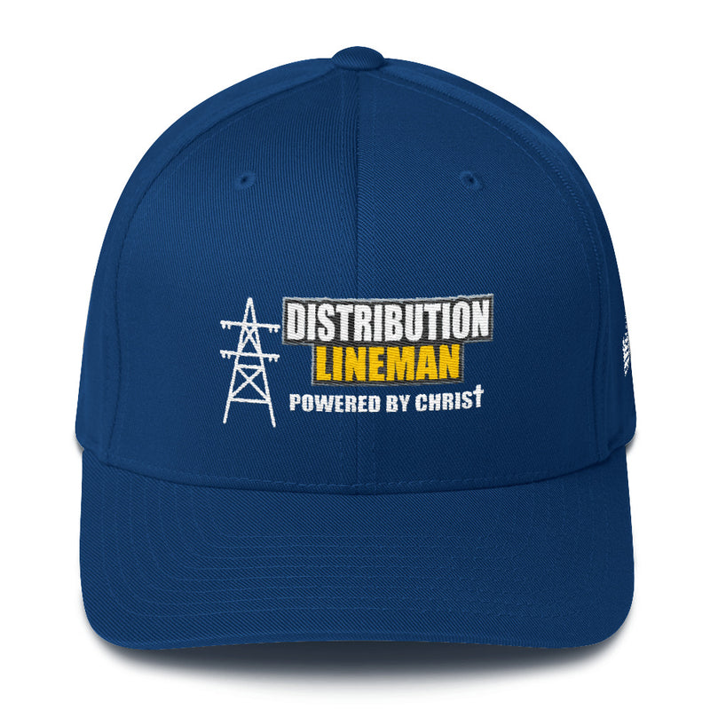 Distribution Lineman Powered by Christ Flexfit Hat Free Shipping