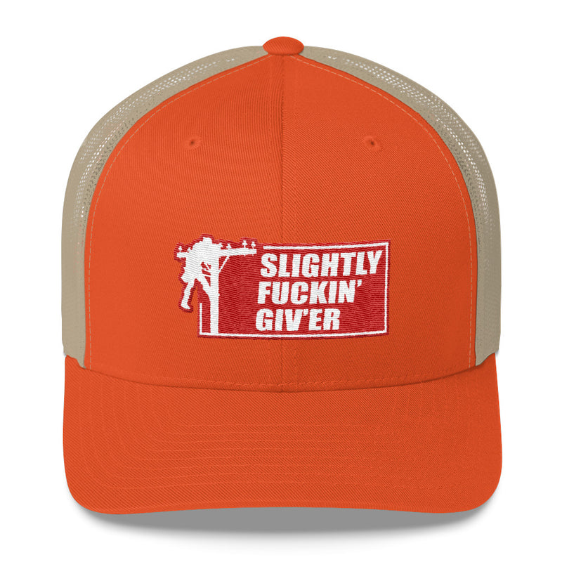 Lineman Slightly Fuckin' Giv'er Snapback Hat Free Shipping