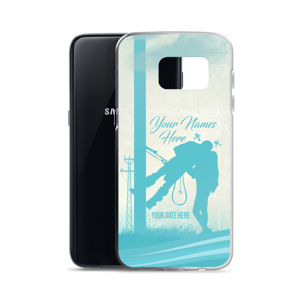 Lineman Kiss Your Names Here Samsung Phone Case Free Shipping