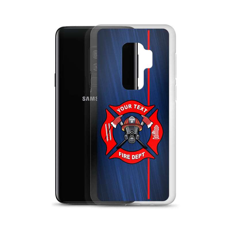 Fire Department Your Text Here Samsung Phone Case Free Shipping