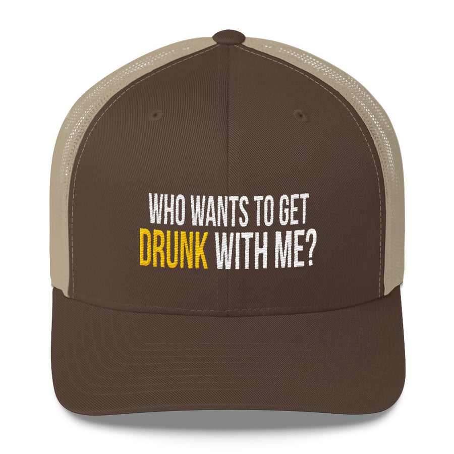 da056768 Who Wants To Get Drunk With Me Snapback Hat Free Shipping – Big Rig ...