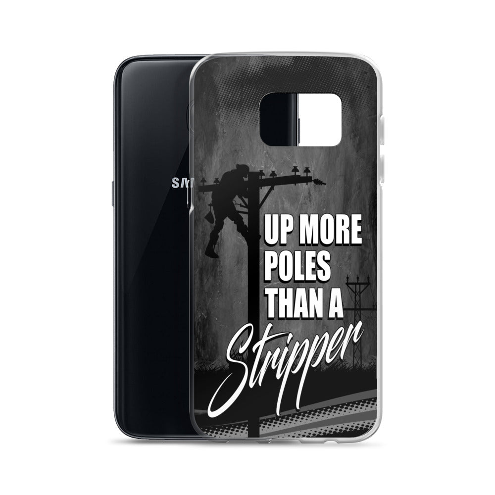 Lineman Up More Poles Than a Stripper Samsung Phone Case Free Shipping