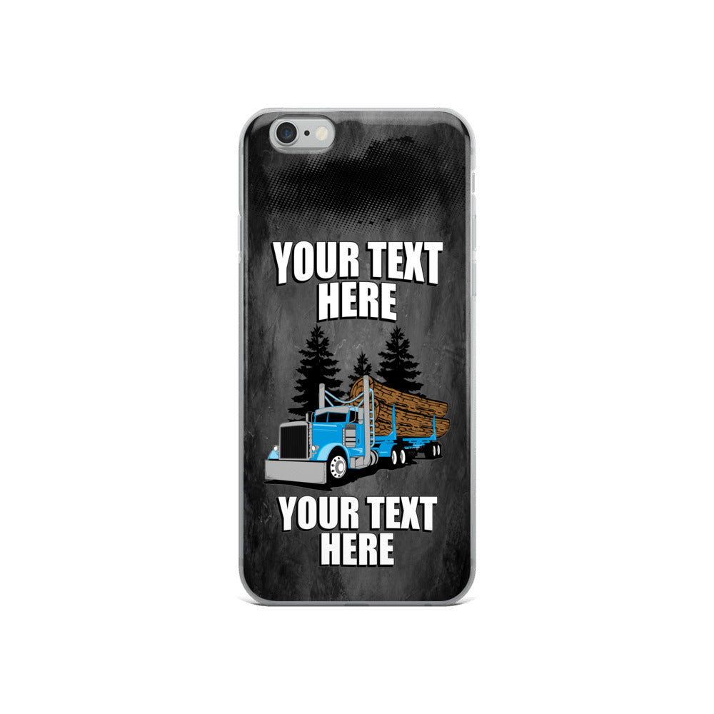 Log Hauler Pete Your Text Here iPhone Case Free Shipping