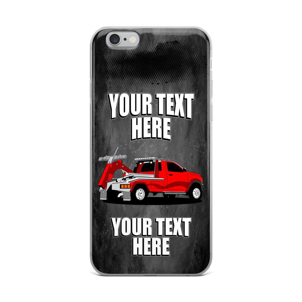 Tow Truck Your Text Here iPhone Case Free Shipping