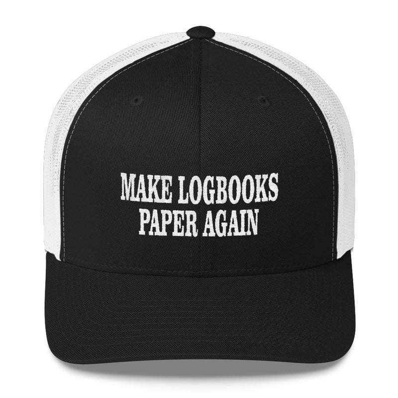 Make Logbooks Paper Again Snapback Hat Free Shipping