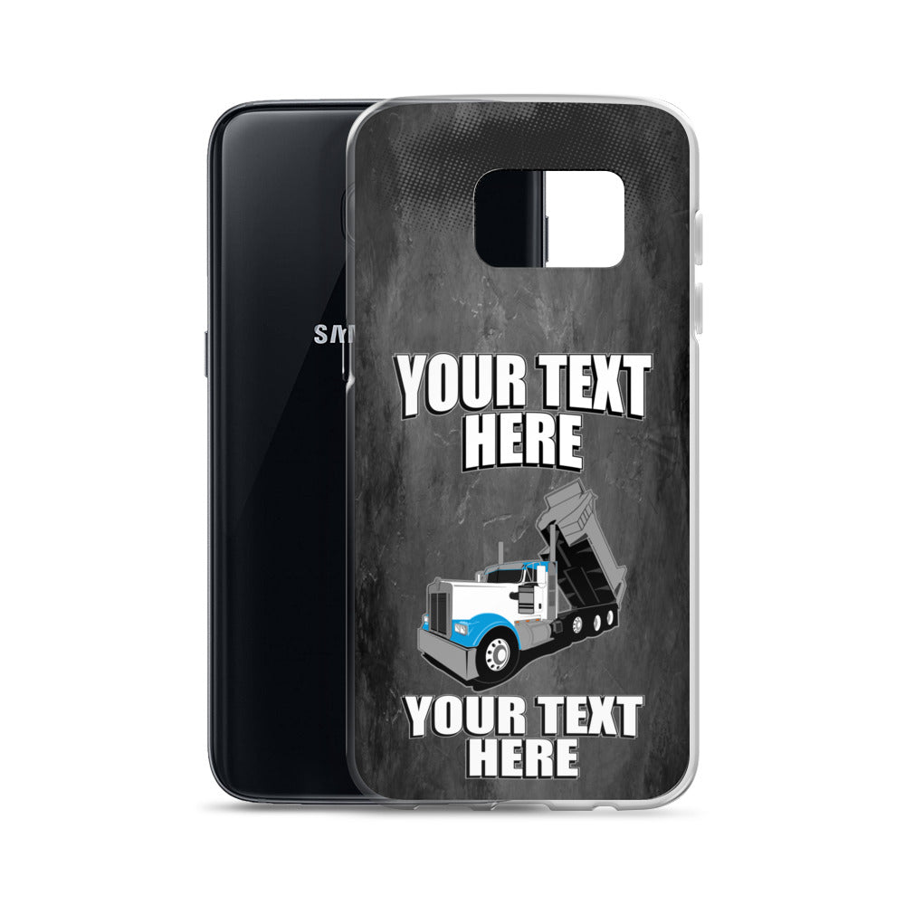 KW Dump Truck Your Text Here Samsung Case Free Shipping