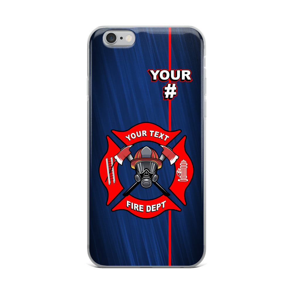 Fire Department with Badge Number iPhone Case Free Shipping