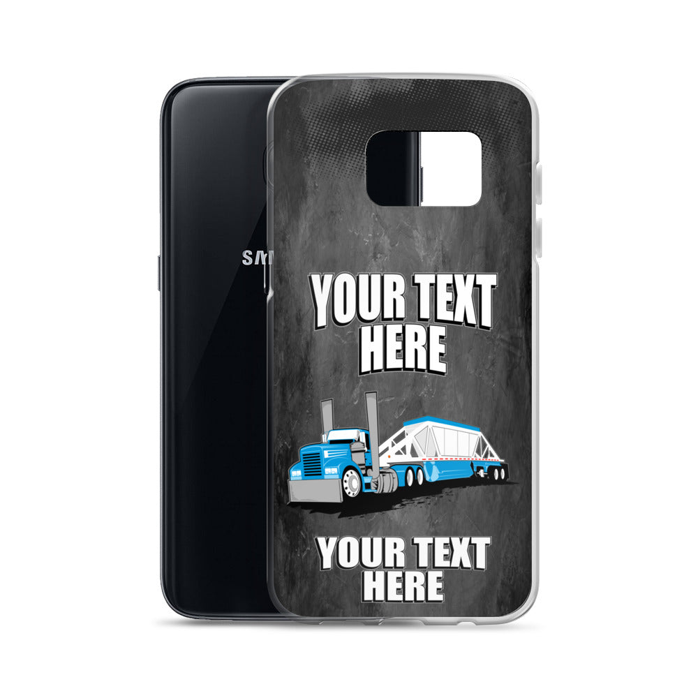 Belly Dump Truck Your Text Here Samsung Phone Case Free Shipping