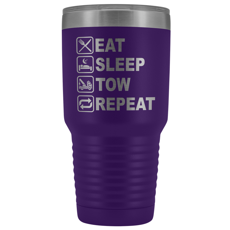 Eat Sleep Tow Repeat Towing 30oz Tumbler Free Shipping