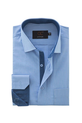 Attitude 5001 Blue with contrast collar