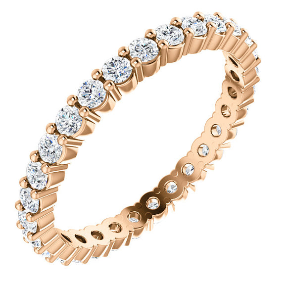 Diamond Eternity Band 5/8 Ct. in 14K Rose Gold - Roxx Fine Jewelry