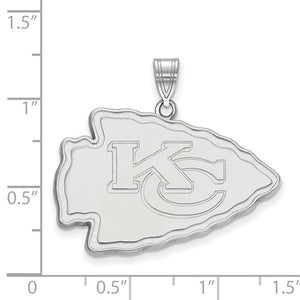 Kansas City Chiefs® Arrowhead Logo Necklace Officially Licensed by the NFL® - Roxx Fine Jewelry