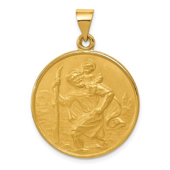 St. Christopher Medal in 18K Yellow Gold - Roxx Fine Jewelry
