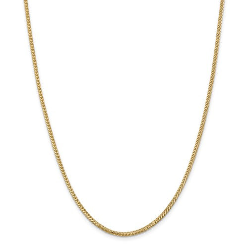 Franco Chain 2mm in 14K White or Yellow Gold - Roxx Fine Jewelry