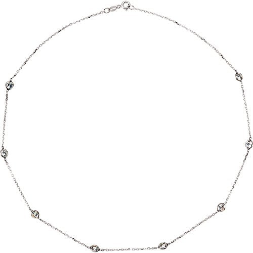 CZ's by the Yard Station Necklace or Bracelet in Sterling Silver - Roxx Fine Jewelry