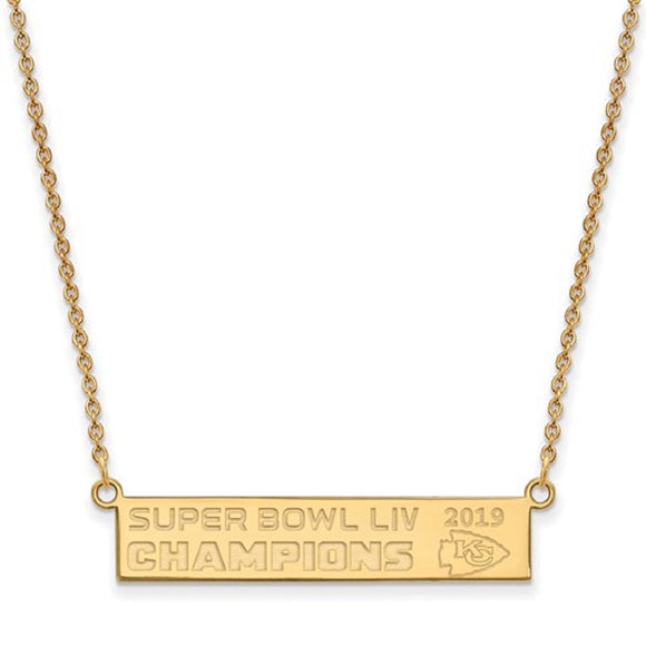Kansas City Chiefs® Super Bowl Champions NFL® Licensed Bar Necklace and Lariat Bracelet - Roxx Fine Jewelry