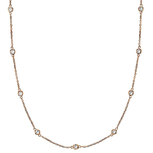 CZ's by the Yard 24K Rose Gold Plated over Sterling 18