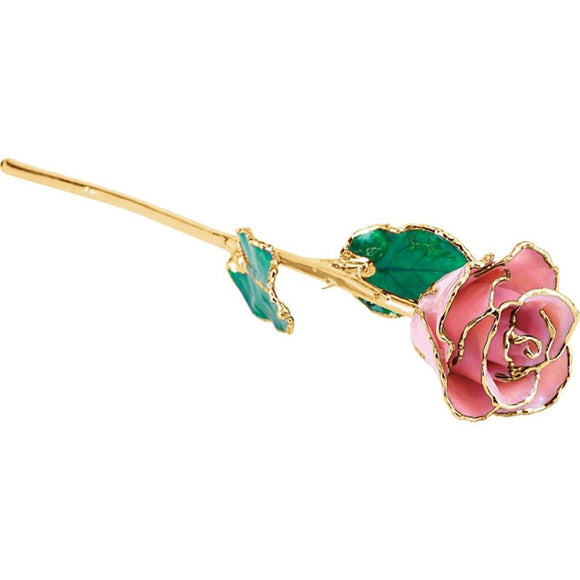 Forever® Rose 24K Gold Trimmed Pink Pearl Rose - Roxx Fine Jewelry