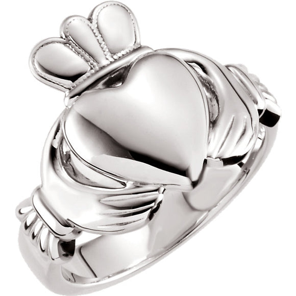 Claddagh Ring in 14K Rose, White or Yellow Gold - Roxx Fine Jewelry