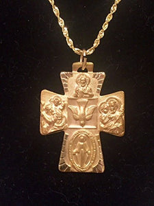 Celtic Inspired Four Way Cross Pendant  in 14K Yellow Gold - Roxx Fine Jewelry