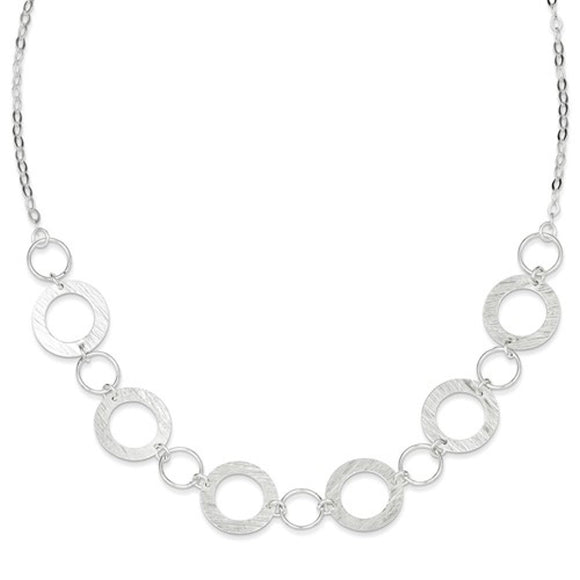 Fancy Circle Link Necklace in Sterling Silver - Roxx Fine Jewelry