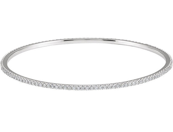 Eternity Diamond Bangle Bracelet 1, 2, and 3 ct Stackable in 14K Gold - Roxx Fine Jewelry