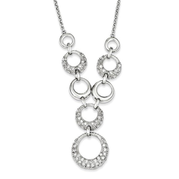 Contemporary Circles Sterling and CZ 17