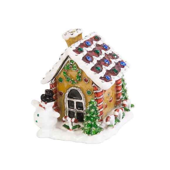 Gingerbread House Hinged Jewelry Trinket Box - Roxx Fine Jewelry