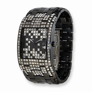 Moog™ Watch Swarovski® Crystal Rain Watch in Black - Roxx Fine Jewelry