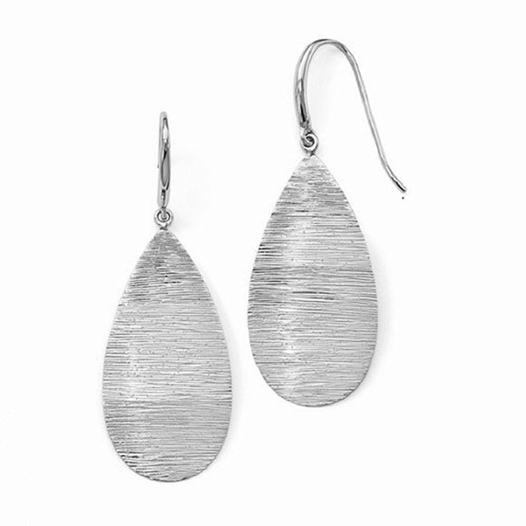 Leslie's™ Wire Wrapped Drop Earrings in Sterling Silver - Roxx Fine Jewelry