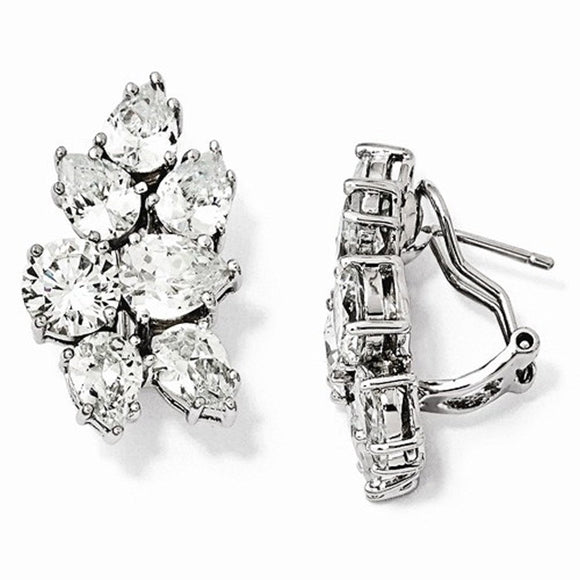 Cheryl M® Sterling and CZ 16mm Fancy Earrings and Bracelet - Roxx Fine Jewelry