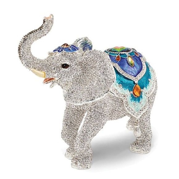 Jeweled Elephant Trinket Box 8