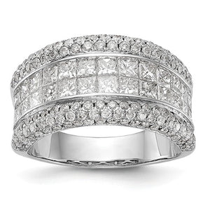 Anniversary Band 3.01 Carat Pave Diamonds in 14K White Gold - Roxx Fine Jewelry