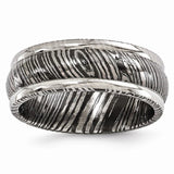 Edward Mirell® 8mm Timoku™ Titanium Domed Ridged Band EMR196 - Roxx Fine Jewelry